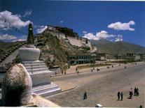 Potala, VII-XVIII sec. Lhasa (Tibet) (da: Knud Larsen, Amund Sinding-Larsen, The Lhasa Atlas: Traditional Tibetan Architecture and Townscape 2001)