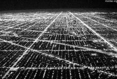 Il tracciato ortogonale infinito di Chicago. Fonte: Zokazola © mordac.com