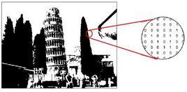 Esempio di immagine binaria.