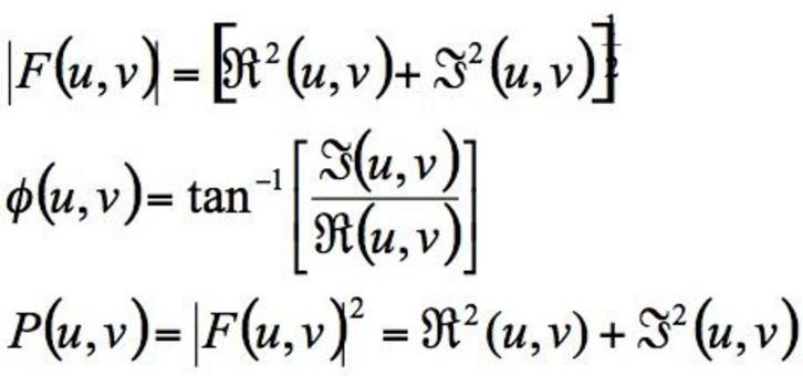 Le espressioni dello spettro, della fase e della densità spettrale sono analoghe a quelle del caso 1-D.