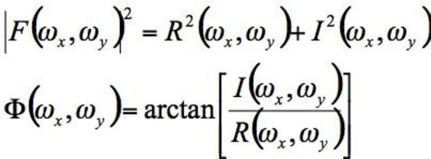 Il quadrato del modulo descrive la potenza per ogni componente della frequenza, e si ottiene l'angolo di fase.