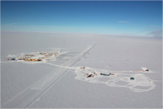 South Pole station Right: IceCube
