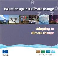 Copertina dell'opuscolo della Commissione Europea sulle politiche per il cambiamento climatico