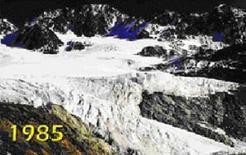 Densità dei ghiacciai nel 1985. Fonte: Comune di Modena