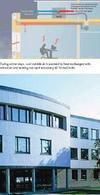Sistema di raffrescamento passivo assistito meccanicamente al Elizabeth Fry Building University of East Anglia. Three Regions Climate Change Group, Adapting to climate change: a case study companion to the checklist for development, March 2007, Government Office for London. Fonte: Greater London Authority