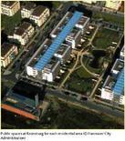 Sistemazione degli spazi verdi a Kreunsburg, Hannover. Fonte: Greater London Authority