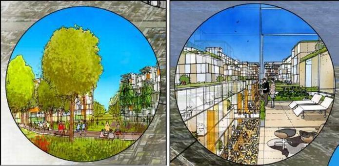 Visioni urbane di Narinder Sagoo f+p. Fonte: Fabio Casiroli, Fondazione Riccardo Catella
