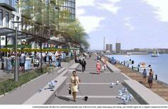 Percorso pedonale. Fonte: Waterfront Toronto