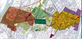 Piano di ampliamento della La Defense di Parigi. Fonte: La Défense Seine Arche