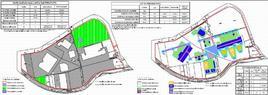 Pianta dei parcheggi e progetto di nuove destinazioni d'uso. Fonte: Laboratorio di Governo del Territorio, Corso di Laurea UPTA, prof. F. D. Moccia