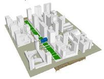 Ipotesi dello sviluppo volumetrico di Zuidas. Fonte: Zuidas Amsterdam
