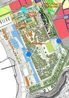 Progetto del Parco di Bagnoli sull'area ex Italsider. Fonte: Comune di Napoli