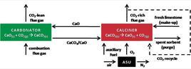 Calcium looping.