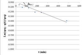 Linearizzazione di un''equazione cinetica di pseudo-primo ordine.