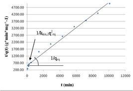 Linearizzazione di un''equazione cinetica di pseudo-secondo ordine.