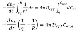 Soluzione del bilancio di materia in condizioni pseudo-stazionarie.