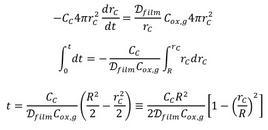 Soluzione del bilancio di materia.
