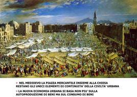 Il mercato nello spazio urbano. La piazza del Mercato a Napoli, Micco Spadaro. Fonte: Interviù