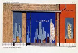 Pierre Carreau, 1927. Progetto per una boutique
