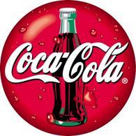 Il logotipo della Coca Cola riquadrato all'interno del rosso primario, elemento cromatico distintivo della marca