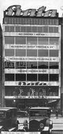 Negozio Bata di Wenceslas Square Praga, Arch. Ludvík Kysela, 1927-1929. L'insegna con il logotipo individuativo della marca diventa l'elemento caratterizzante la facciata dell'immobile