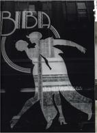 Particolare di una delle insegne che utilizzavano una elaborazione grafica del logotipo Biba