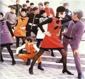 """1968, Pierre Cardin, collezione """"cosmonautica"""""""