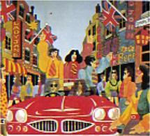Londra in una rappresentazione degli anni Sessanta