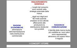 Schema illustrativo dei principi generali del Concept Store