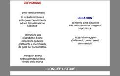 Concept Store, criteri generali