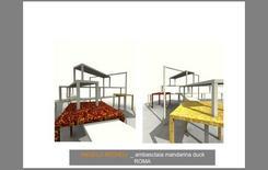 Ambasciata di Roma, simulazione renderizzata delle soluzioni di finitura panche