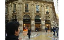 Milano, il primo negozio Prada in Galleria Vittorio Emanuele II