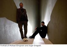 Una immagine dei due artisti Elmgreen & Dragset