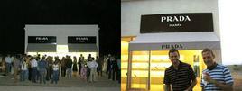 Elmgreen & Dragset all'inaugurazione di Prada Marfa