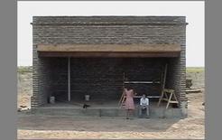 Il Prada Marfa in costruzione