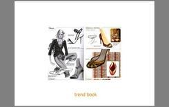 Pagina di un Trend Book relativo a una ricerca su una particolare tipologia di calzatura