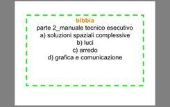 Principali contenuti del manuale tecnico esecutivo
