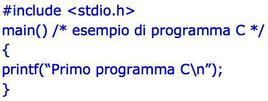Programma scritto in linguaggio C