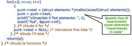 Funzione crea_lista()