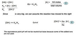 Calculation of pH in equivalence phase