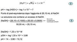 Calcolo per la costrizione della curva nella fase di equivalenza e post-equivalenza.