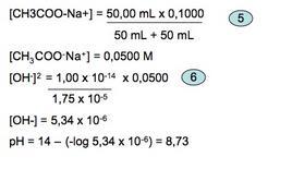 Calcolo del pH nella fase di equivalenza.