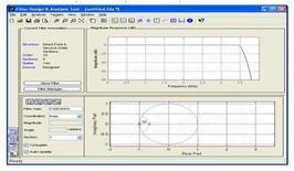 Approssimazione della risposta in frequenza ideale con un filtro digitale progettato con 'fdatool'.