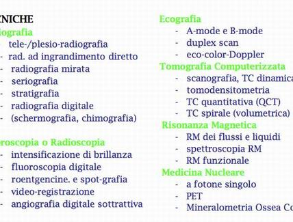 Radiologia: tecniche