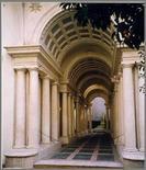 F. Borromini, galleria prospettica di Palazzo Spada, Roma 1640. Originale di Alessandra Pagliano