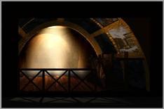 Photorendering della scena dal palco reale. Fonte: Pagliano A., Fridericiana 2009