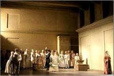 Le Nozze di Figaro, scenografia di Ezio Frigerio, Milano 1982. Foto di scena, Atto I