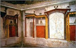 Affresco della Casa di Augusto, colle Palatino, Roma, 27 a.C. Fonte: Wikimedia Commons
