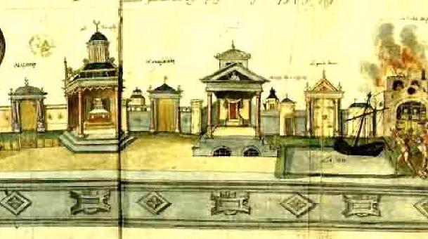 I luoghi deputati del teatro medioevale. Fonte: Liceo Marconi, Carrara