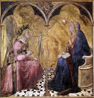 Ambrogio Lorenzetti, Annunciazione, 1344, Pinacoteca Nazionale, Siena. Fonte: Wikimedia Commons